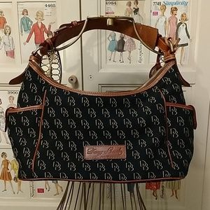 Dooney and Bourke black signature bag